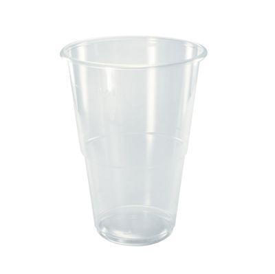 Chope à bière Papstar, polypropylène, 0,4 l, transparent - 70 pièces