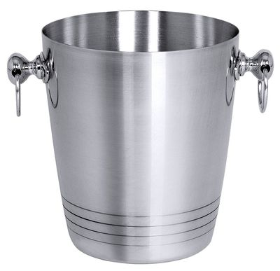 Sektkühler Aluminium., Durchmesser: oben 19 cm, Höhe 22 cm