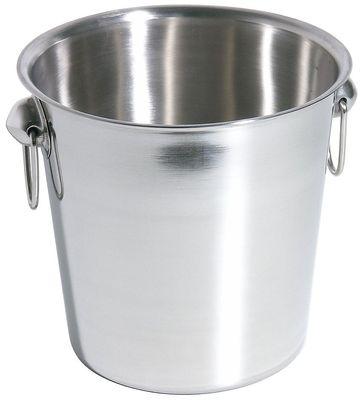 Refroidisseur à champagne en acier inoxydable 18/10, diamètre : 18,5 cm, hauteur 18,5 cm