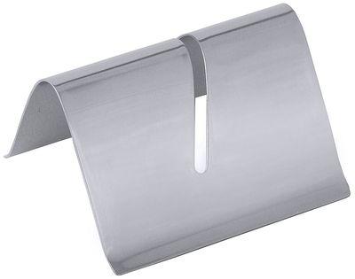 Kartenhalter mit Schlitz aus Edelstahl 18/0, Breite 5 cm, Höhe 3 cm