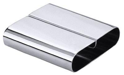 Speisenkartenhalter aus Edelstahl 18/0, Größe 8 x 8 cm, Höhe 2 cm