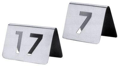 Tischnummernschild 37-48 mit ausgestanzten Ziffern