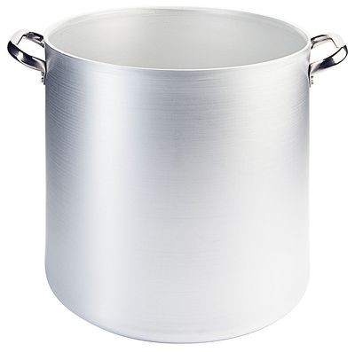 Marmitte 36 cm en aluminium, hauteur 50cm, contenu : 100 litres