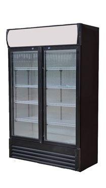 Réfrigérateur à boissons ECO 630 avec tête d'éclairage et portes battantes