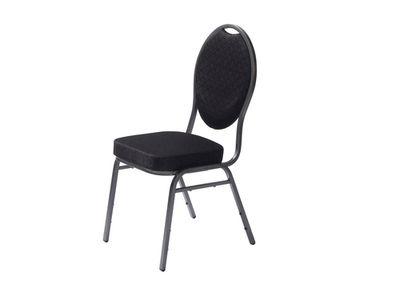 Chaise empilable Palace noire – 4pièces