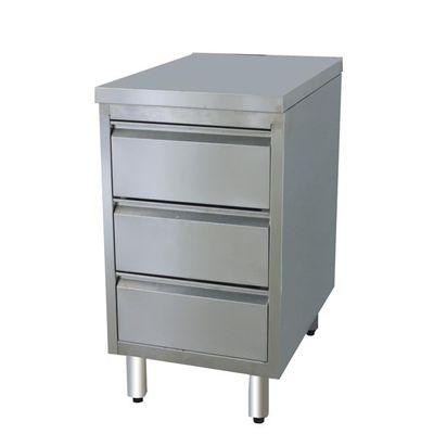 Armoire à tiroirs en inox ECO 3 unités 700