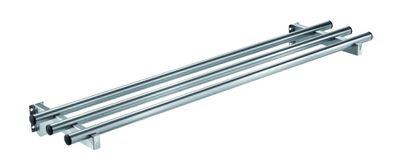 Glissière pour plateaux en inox PROFI rabattable avec éclairage 1000x300