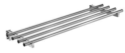 Glissière pour plateaux en inox PROFI rabattable avec éclairage 1000x400