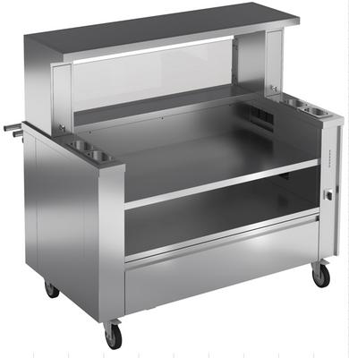 Mobile Kochstation für 3 Tischgeräte inklusive Spezialfiltersystem
