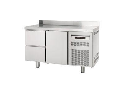 Table réfrigérée Profi 1/2 Superior avec dosseret - GN 1/1