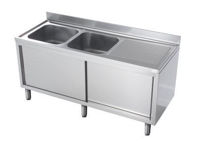 Spülschrank Eco 14x6 mit 2 Becken links