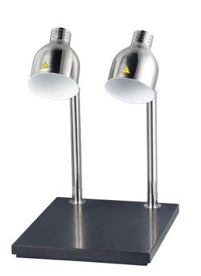 Speisewärmer mit zwei Lampen und Ablagefläche