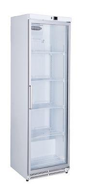 Réfrigérateur de stockage blanc ECO 380 à porte vitrée