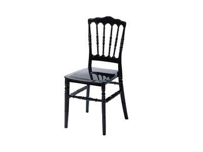 Chaise empilable Napoleon noire – 4pièces