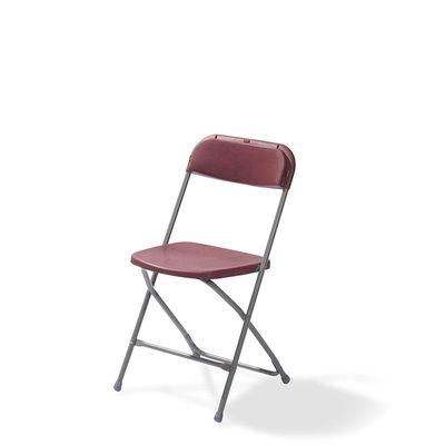 Chaise pliante Budget gris/bordeaux, châssis en acier, pliante