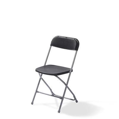 Chaise pliante Budget gris/noir, châssis en acier, pliante