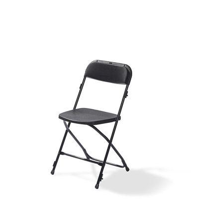 Chaise pliante Budget, noire, châssis en acier, pliante