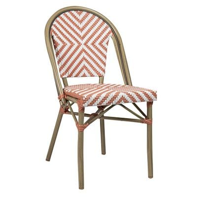 Chaise de terrasse Toby III bambou/beige-rose – 4 pièces