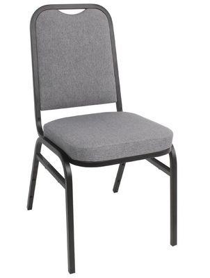 Chaises de banquet Bolero à dossier rectangulaire gris