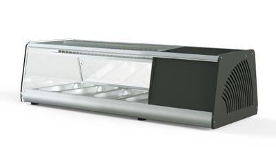 Vitrine à sushi PROFI 4x1/3GN - verre angulaire