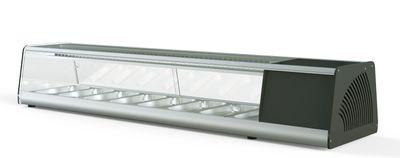 Vitrine à sushi PROFI 8x1/3GN - verre angulaire