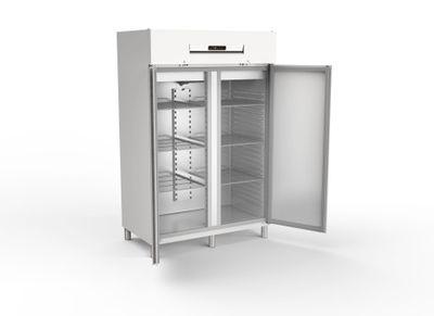 Armoire réfrigérée combinée réfrigération/congélation professionnelle 1400 GN 2/1 - avec 2 portes (côté gauche réfrigération normale, côté droit congélation)