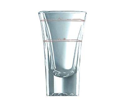 Verre à liqueur Dublino 5,7 cl, repères de remplissage 2 cl + 4 cl