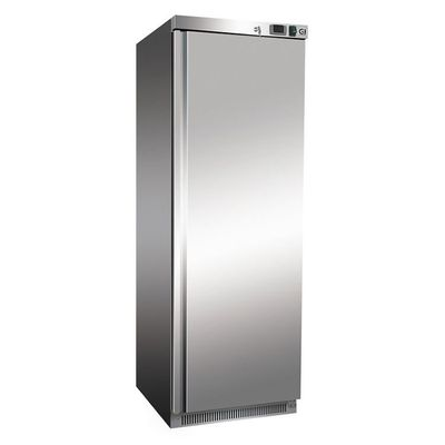 Gastro-Inox Kühlschrank aus weissem Stahl 400 Liter, statisch gekühlt mit Ventilator