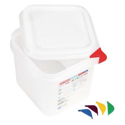 Araven Farbkodierte Lebensmittelbehälter GN 1/6, 15 cm
