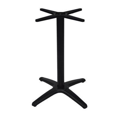 Structure de table Roma en aluminium, revêtement par poudre noir