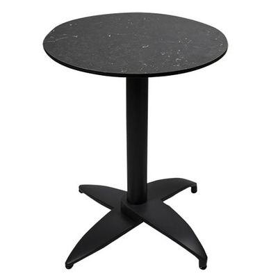 Plateau de table Davanti noir rond 60 cm ⌀