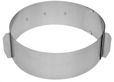 Tortenring mit Skala Höhe 8,5cm, Durchmesser 16-30cm