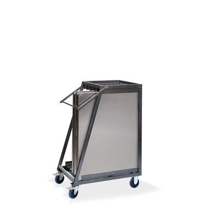 Chariot de transport pour maximum 5 tables pliantes en acier inoxydable, 880 x 650 x 1130 mm