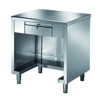 Kassentisch PROFI 3-seitig geschlossen mit verschließbare Schublade 1200x700x890