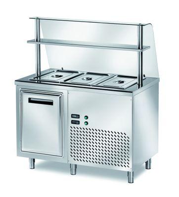Table réfrigérée de distribution PROFI B200 avec portes battantes 1200x700x890 – 3x GN 1/1