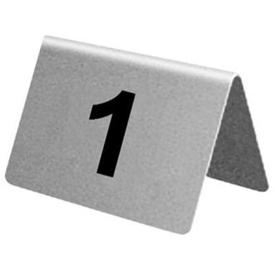 Numéros de table Olympia 21 à 30 en acier inoxydable