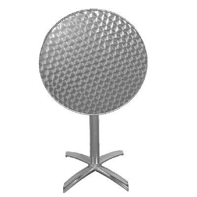 Bistrotisch Bolero Edelstahl klappbar, Durchmesser 60cm