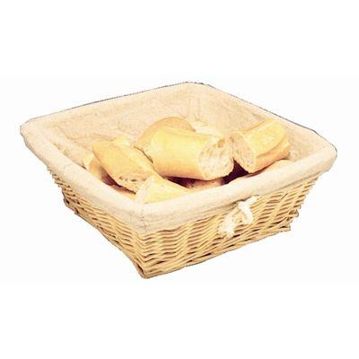 Corbeille à pain Olympia avec toile de coton 23x23cm.