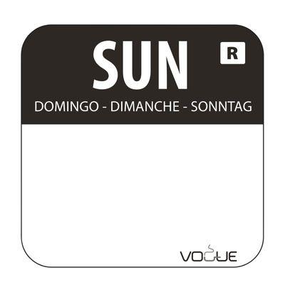 Étiquettes dimanche/noir solubles dans l´eau - 1.000 pièces