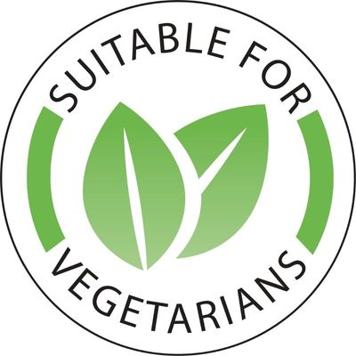 """Étiquette """"Végétarien / Convient aux végétariens"""" - 1.000 pièces"""