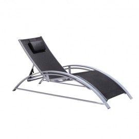 Chaise longue Maxus noire