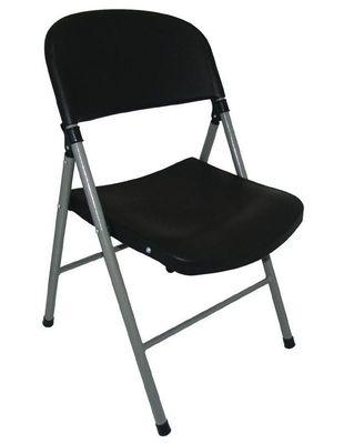 Chaises pliantes Bolero, noir, 2 pièces