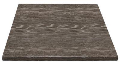 Plateau de table carré Boléro faux ébénier 70 cm