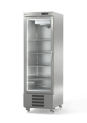 Congélateur Coreco US Range 650 en acier inoxydable avec une porte vitrée