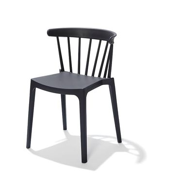 Chaise empilable Windson, anthracite, polypropylène