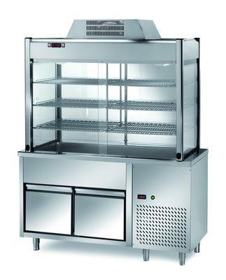Vitrine réfrigérée de libre-service PROFI avec deux tiroirs 1500x700x2000 – 4x GN 1/1