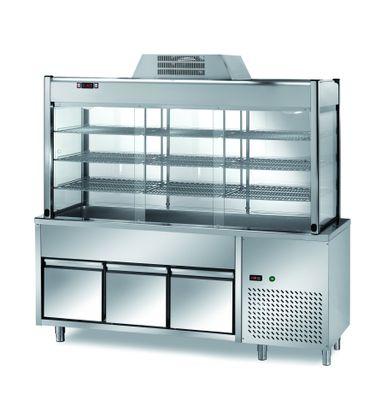 Vitrine réfrigérée de libre-service PROFI avec deux tiroirs 2000x700x2000 – 5x GN 1/1