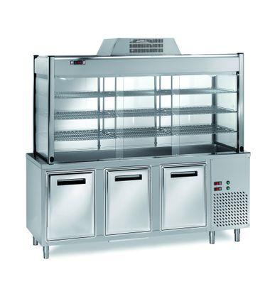 Vitrine réfrigérée de libre-service PROFI 2000x700x2000 – 5x GN 1/1