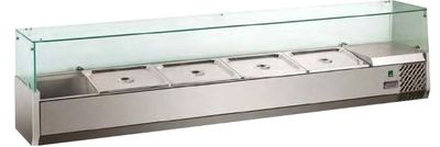 Saladette à poser ECO 3x GN 1/3 + 1x GN 1/2 avec vitre