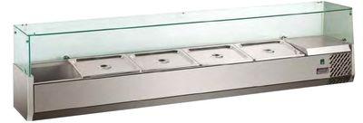 Saladette à poser ECO 7 x GN 1/4 avec vitre 1600 mm